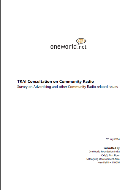 Survey on Advertising and other Community Radio related issues